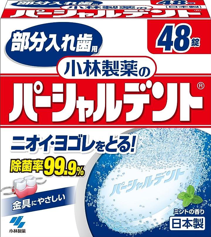 摂氏一緒に扱いやすい小林製薬のパーシャルデント 部分入れ歯用 洗浄剤 ミントの香 48錠