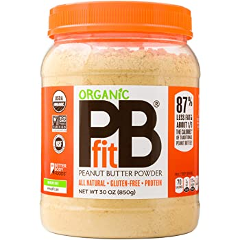 PBfit All-Natural Organic Peanut Butter Powder, Powdered Peanut Spread from Real Roasted Pressed Peanuts, 8g of Protein (30 oz.)