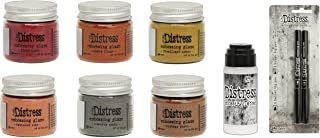 Tim Holtz Distress Embossing Glaze Warm Tones Bundle - 6 Glazes, Embossing Dabber & Embossing Pens