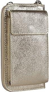 OBC Made in Italy Damen Leder Handytasche Tasche Umhängetasche Geldbörse Schultertasche Brieftasche Smartphone Geldtasche ...