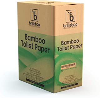 BrillaBoo Pure Bamboo Toilet Paper | 100% Tree Free Hypoallergenic Bamboo Toilet Paper For Sensitive Skin | Plastic, Tree ...