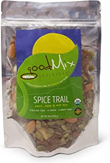 goodMix Superfoods Spice Trail Mix, Raw Nuts, Seeds and Fruit, Gluten Free, Vegan, Grain Free, 8.5 oz