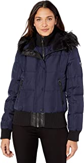 Best vince camuto hooded faux fur trimmed down coat Reviews