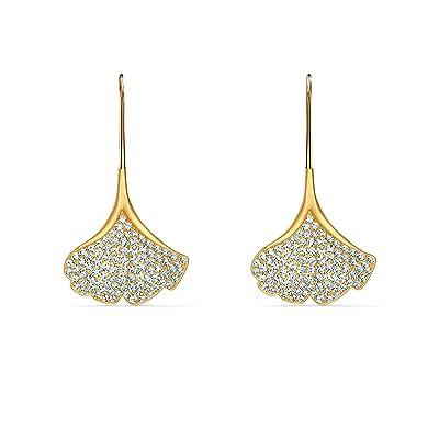 Swarovski Stunning Ginko Pierced Earrings (White) Earring