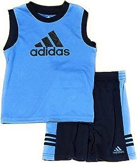 adidas Baby Toddler Boys 2pc Athletic Tank and Shorts Set