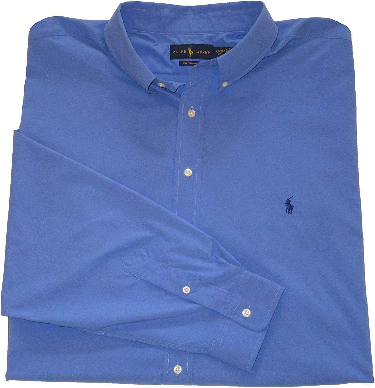 Ralph Lauren Polo Mens Big and Tall Performance Button-Down Shirt