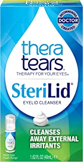 TheraTears Sterilid Eyelid Cleanser, Lid Scrub for Eyes and Eyelashes, Contains Tea Tree Oil, 48 mL, 1.62 Fl oz Foam Pump