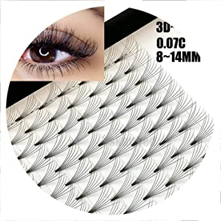 12 Lines 3D~10D Russian Premade Volume Fans Eyelashes Extension C Curl 0.07 Thickness Heat Bonded Eyelashes Makeup Tools,D,0.07mm,11mm,5D