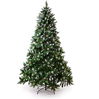 Amazon.com: Senjie Artificial Christmas Tree 6,7,7.5 Foot ...