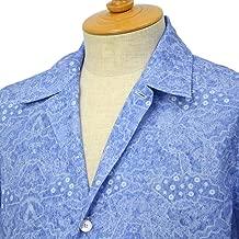 [ORIAN【オリアン】]プリントシャツ MARMY P292 20 コットン ブルー