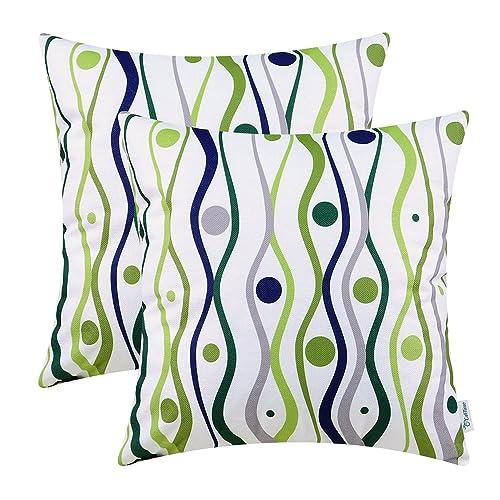 Navy and Green Throw Pillows: Amazon.com