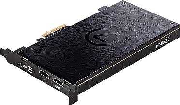 Elgato Game Capture 4K60 Pro - Capturadora de juegos (Xbox 360, PlayStation o Nintendo) con una imagen de 4K 60FPS Captura, PCI x4 (Interno), tecnología de latencia ultrabaja, Negro