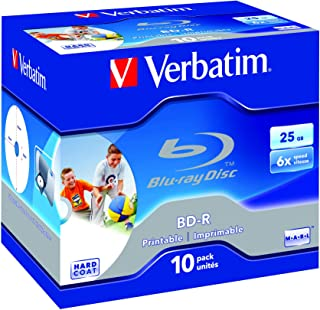 Verbatim BD-R 25Gb Pk 10 Printable blu-ray disc Blue ray
