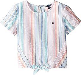 dc634c52906 7 For All Mankind Kids Bubble Sleeve Tee - Contrast Poplin Knit ...