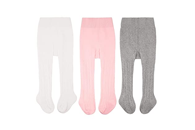 0b4f2da7f5554 CozyWay Baby Tights Toddler Leggings Pantyhose for Baby Girls Seamless  Cable Knit Cotton Pants Stockings 0-4 Years