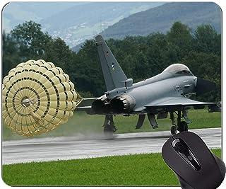 Best Gift Idea Mouse Pad,Twin engine defense air force landing Non-Slip Rubber Base Mousepad