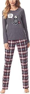 Pijama Conjunto Camiseta y Pantalones Ropa de Cama Mujer MS10-169