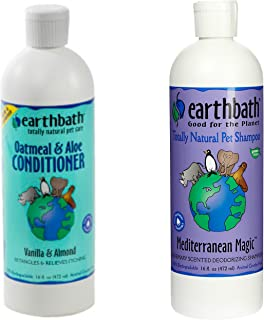 Earthbath Mediterranean Magic Rosemary Scented Deodorizing Shampoo for Dogs and Cats, 16 Ounces, and Earthbath Oatmeal and...