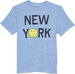 Tri-Blend New York Smile Crew Neck Tee (Big Kids)