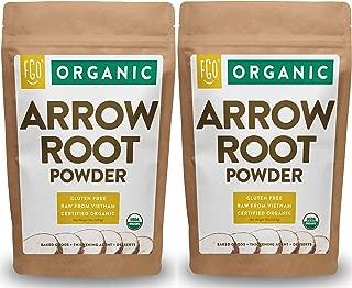 Organic Arrowroot Powder (Flour) | 2x 1 Pound Resealable Kraft Bags (32oz / 2 lbs Total) | 100% Raw From Vietnam | by Feel Good Organics