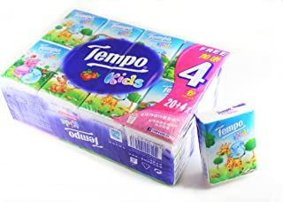 Tempo Pocket Tissues for Kids Strawberry Flavor Pack of 24