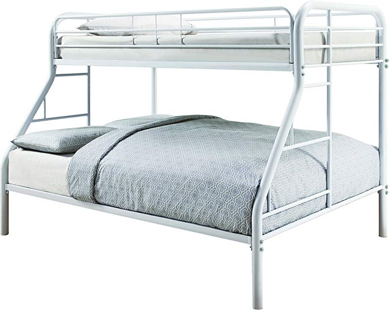 Coaster 460378W CO Metal Twin And Full Bunk Bed White Finish