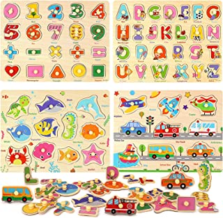 Amazon.es: Animales y numeros - Puzzles de madera / Puzzles y rompecabezas: Juguetes y juegos