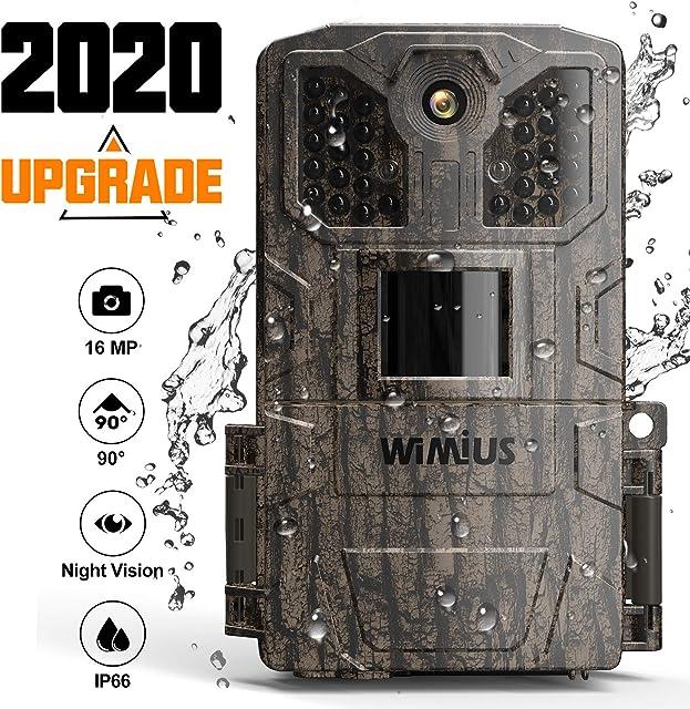WiMiUS Cámara de Caza 16MP 1080P Camara Caza con 940nm 32pcs Luz Invisible Camara Caza Nocturna Velocidad de Disparo de 0.5s de hasta 20m Impermeable Ip66 para Vigilancia Cazar-Upgrade