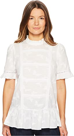 Kate Spade New York - Butterfly Clipped Flounce Top