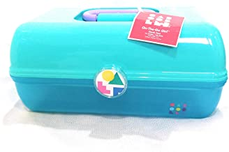 Caboodles On The Go Girl Makeup Cosmetic Case Retro Look (seafoam over blue jelly)