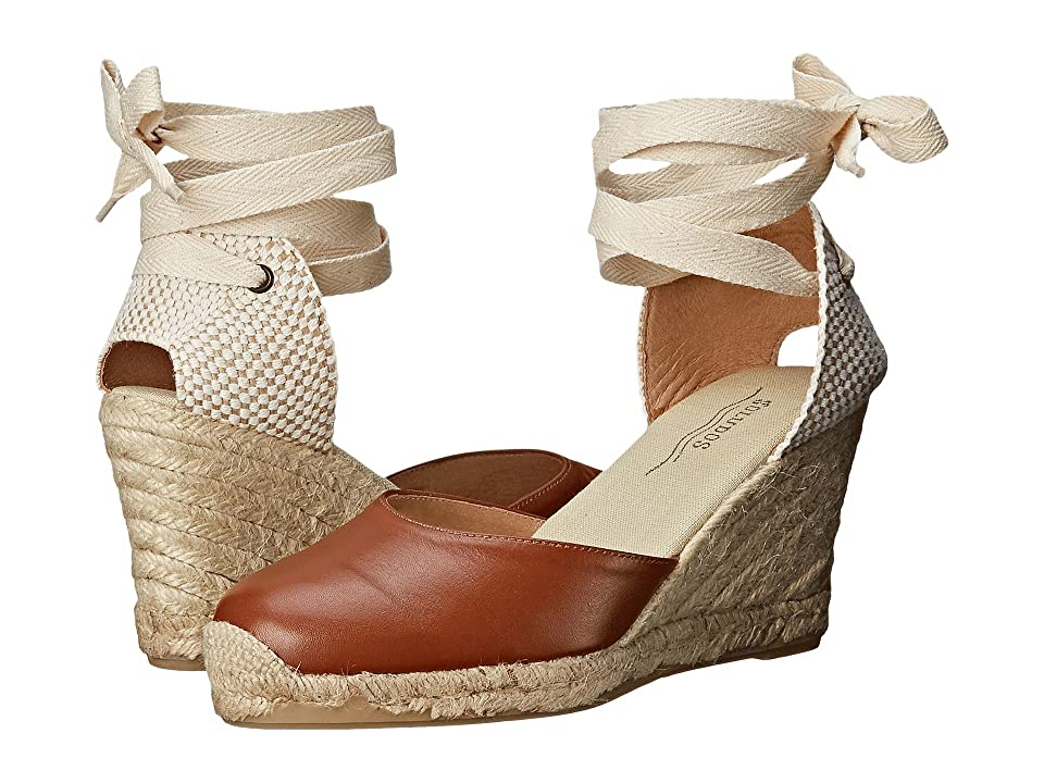 Soludos Tall Wedge Leather (Tan) Women