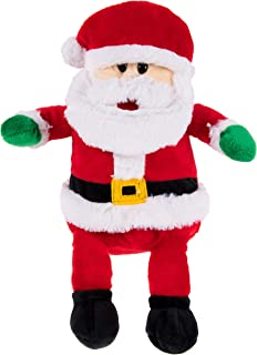 Blue Panda Santa Claus Plush Toy - Santa Nick Kids Soft Stuffed Toy, Fun Christmas for Boys and Girls, Festive Decoration, Red and White, 10.7 x 7.5 x 3 Inches
