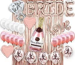 Bridal Shower Decorations| Bachelorette Party Decorations Supplies| Bridal shower Balloon Kit| Rose Gold Party Decorations| Bride banner| Foil curtain| Rose gold Champagne Bottle Balloon| Foil Curtain