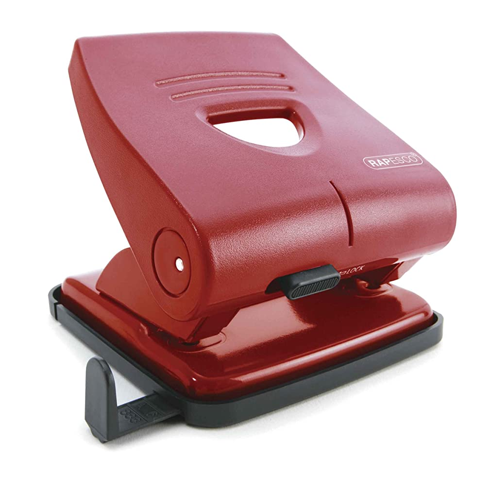 Rapesco 827 - P 2 Hole Punch - Red