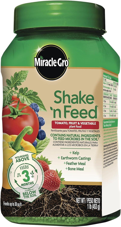 Free Shipping New Miracle-Gro unisex Shake 'N Feed Tomato Vegetable Fruit Plant Food