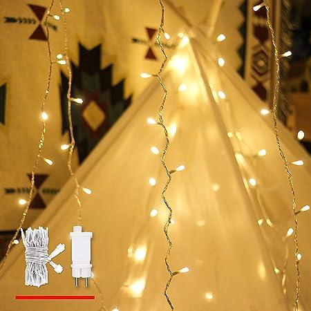 Guirlande lumineuse, de mycozylite®, blanc chaud, 100LED(10m), ligne électrique 5m, Décoration pour intérieur et extérieur, Trasformatore a bassa tensione 31V, Extensible