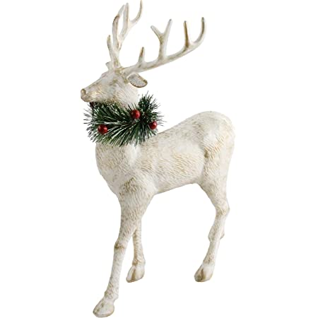 Amazon Com Athoinsu 12 Christmas Reindeer Figurine Table Desk Decorations Xmas Holiday Party Supplies Plastic Kitchen Dining