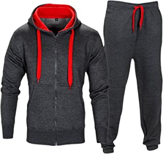 eb576e2a2 Love My Fashions Mens Tracksuit Set New Contrast Cord Fleece Hoodie Top  Bottoms Jogging Zip Joggers