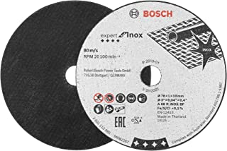Bosch Professional 260925C124 Expert Cutting Disc for INOX (for Stainless Steel, X-Lock, Ø 76 mm, bore Ø 10 mm, Angle Grin...