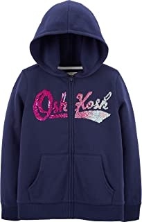Girls' Full Zip Logo Hoodie