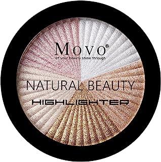 Highlighter Powder Makeup Palette – 5 Shades Lasting Shimmer Powder Face Illuminator Highlighter,...