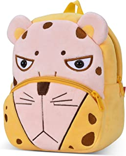 Cute Small Toddler Backpack for Girl Boy Kids Plush 3D Animal Cartoon Mini Preschool Bag for Children Age 1-5 Years Old