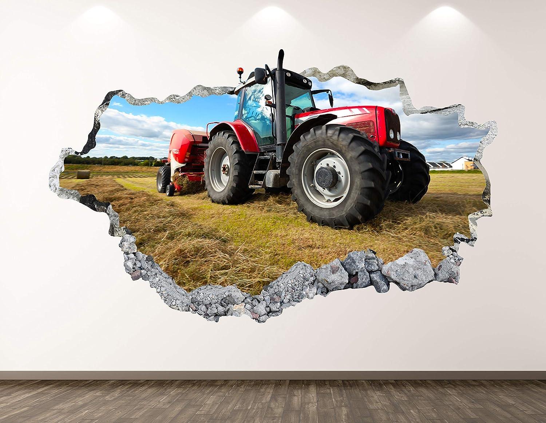 West Tulsa Mall Mountain Tractor Wall Decal Art 3D Decor Farm Sticker Atlanta Mall Mural