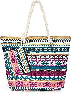 Comius Sharp Große Strandtasche, Strandtasche Damen Shopper Tasche Sommer Schultertasche Canvas Umhnge Tasche Strand Tasch...