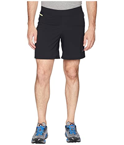 Brooks Cascadia 7 2-in-1 Shorts (Black) Men
