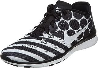 Nike Women's Free 5.0 TR Fit 4 Print Training Shoe Black/White Size 6.5 M US
