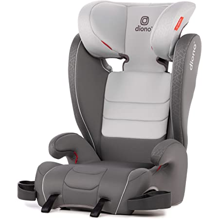 Diono Monterey XT Latch, 2-in-1 Belt Positioning Booster Seat with Expandable Height/Width, Gray Dark