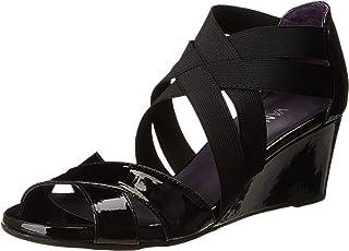VANELi Women's Mireil Wedge Sandal,Black Mag Patent,8 M US