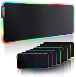 RGB Extended Gaming Mouse pad,Large led Gaming Mouse pad with 14 Lighting Modes and 2 Brightness...