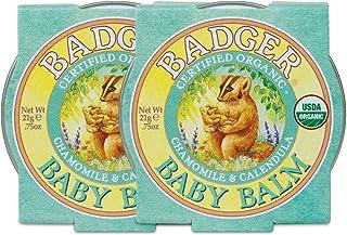 Badger - Baby Balm, Chamomile & Calendula, Certified Organic Baby Balm, Cradle Cap Balm for Babies, Baby Rash Balm, Baby S...
